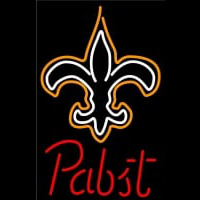 Pabst New Orleans Saints NFL Beer Neon Sign Neon Sign