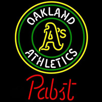 Pabst Oakland Athletics MLB Beer Sign Neon Sign