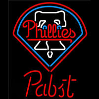 Pabst Philadelphia Phillies MLB Beer Sign Neon Sign