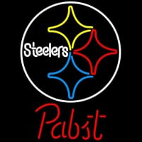 Pabst Pittsburgh Steelers NFL Beer Neon Sign Neon Sign