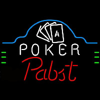 Pabst Poker Ace Cards Beer Sign Neon Sign