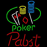 Pabst Poker Ace Coin Table Beer Sign Neon Sign