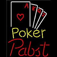 Pabst Poker Ace Series Beer Sign Neon Sign