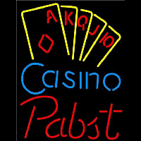 Pabst Poker Casino Ace Series Beer Sign Neon Sign