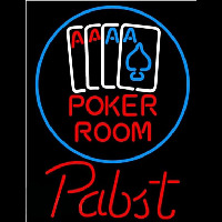 Pabst Poker Room Beer Sign Neon Sign
