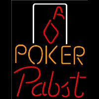 Pabst Poker Squver Ace Beer Sign Neon Sign