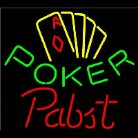 Pabst Poker Yellow Beer Sign Neon Sign