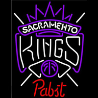 Pabst Sacramento Kings NBA Beer Sign Neon Sign