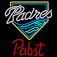 Pabst San Diego Padres MLB Beer Sign Neon Sign