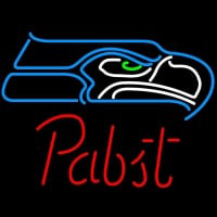 Pabst Seattle Seahawks NFL Beer Neon Sign Neon Sign