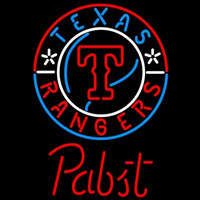 Pabst Texas Rangers MLB Beer Sign Neon Sign