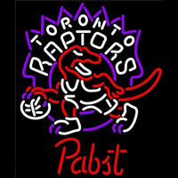 Pabst Toronto Raptors NBA Beer Sign Neon Sign