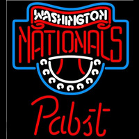 Pabst Washington Nationals MLB Beer Sign Neon Sign