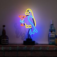 Parrot Cocktail Desktop Neon Sign