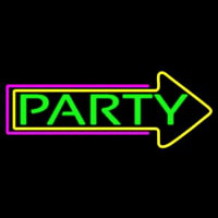 Party With Arrow 2 Neon Sign