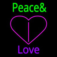 Peace And Love Neon Sign