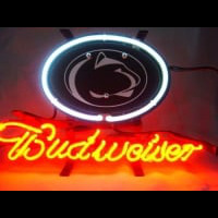 Penn State Nittany Budweiser Beer Neon Light Sign Neon Sign