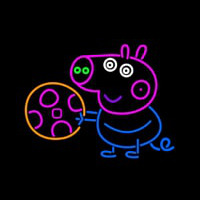 Peppa Pig Clip Neon Sign
