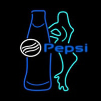 Pepsi Bar With Bottle And Girl Neon Sign