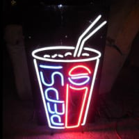 Pepsi Soda Pop Glass Neon Sign