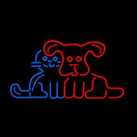 Pet Dog Logo Neon Sign