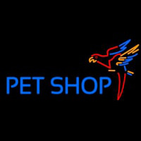Pet Shop Parrot Neon Sign