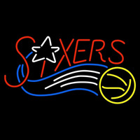 Philadelphia 76ers Wordmark 1997 98 2008 09 Logo NBA Neon Sign Neon Sign