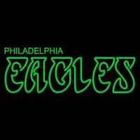 Philadelphia Eagles Wordmark   Logo NFL Neon Sign Neon Sign