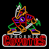 Phoenix Coyotes Primary 1996 97 2002 03 Logo NHL Neon Sign Neon Sign