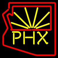 Phoenix Coyotes Secondary 2003 04 Pres Logo NHL Neon Sign Neon Sign