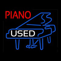 Piano Logo White Used Neon Sign