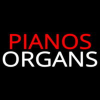 Pianos Organs Block 1 Neon Sign