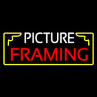 Picture Framing With Frame Logo Neon Sign