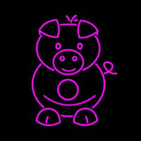 Pig Cartoons Neon Sign