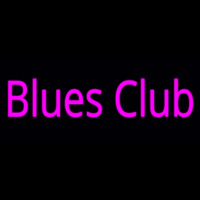 Pink Blues Club Neon Sign