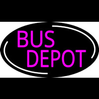 Pink Bus Depot Neon Sign