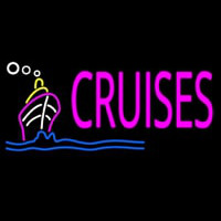 Pink Cruises Neon Sign