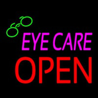 Pink Eye Care Block Open Neon Sign