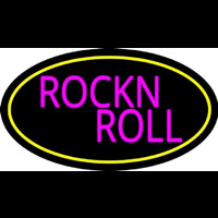 Pink Rock N Roll Guitar 2 Neon Sign