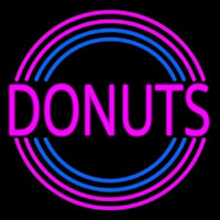 Pink Round Donuts Neon Sign