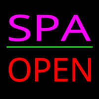Pink Spa Red Open Neon Sign