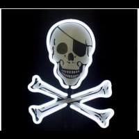 Pirate Flag Desktop Neon Sign