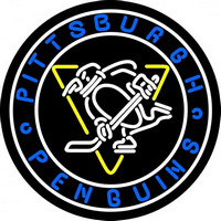 Pittsburgh Penguins Primary 1967 68 Logo NHL Neon Sign Neon Sign