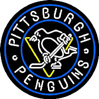 Pittsburgh Penguins Primary 1968 69 1970 71 Logo NHL Neon Sign Neon Sign
