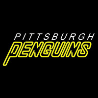 Pittsburgh Penguins Wordmark 1992 93 2001 02 Logo NHL Neon Sign Neon Sign