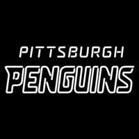 Pittsburgh Penguins Wordmark 2008 09 Pres Logo NHL Neon Sign Neon Sign