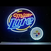 Pittsburgh Steelers Football Miller Lite Neon Sign Neon Sign