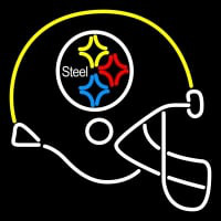 Pittsburgh Steelers Helmet  Pres Logo NFL Neon Sign Neon Sign