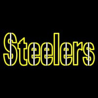 Pittsburgh Steelers Wordmark  Pres Logo NFL Neon Sign Neon Sign