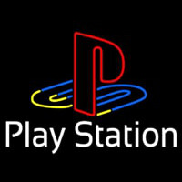 Playstation White Neon Sign